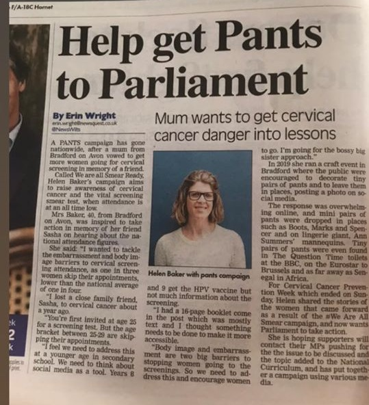Helping Helen get Pants to Parliament!